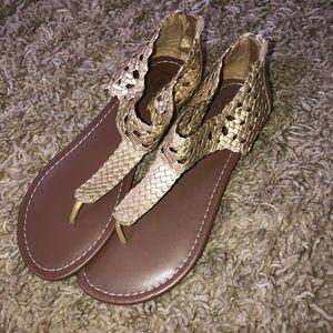 Brand New Candies Gold Sandals